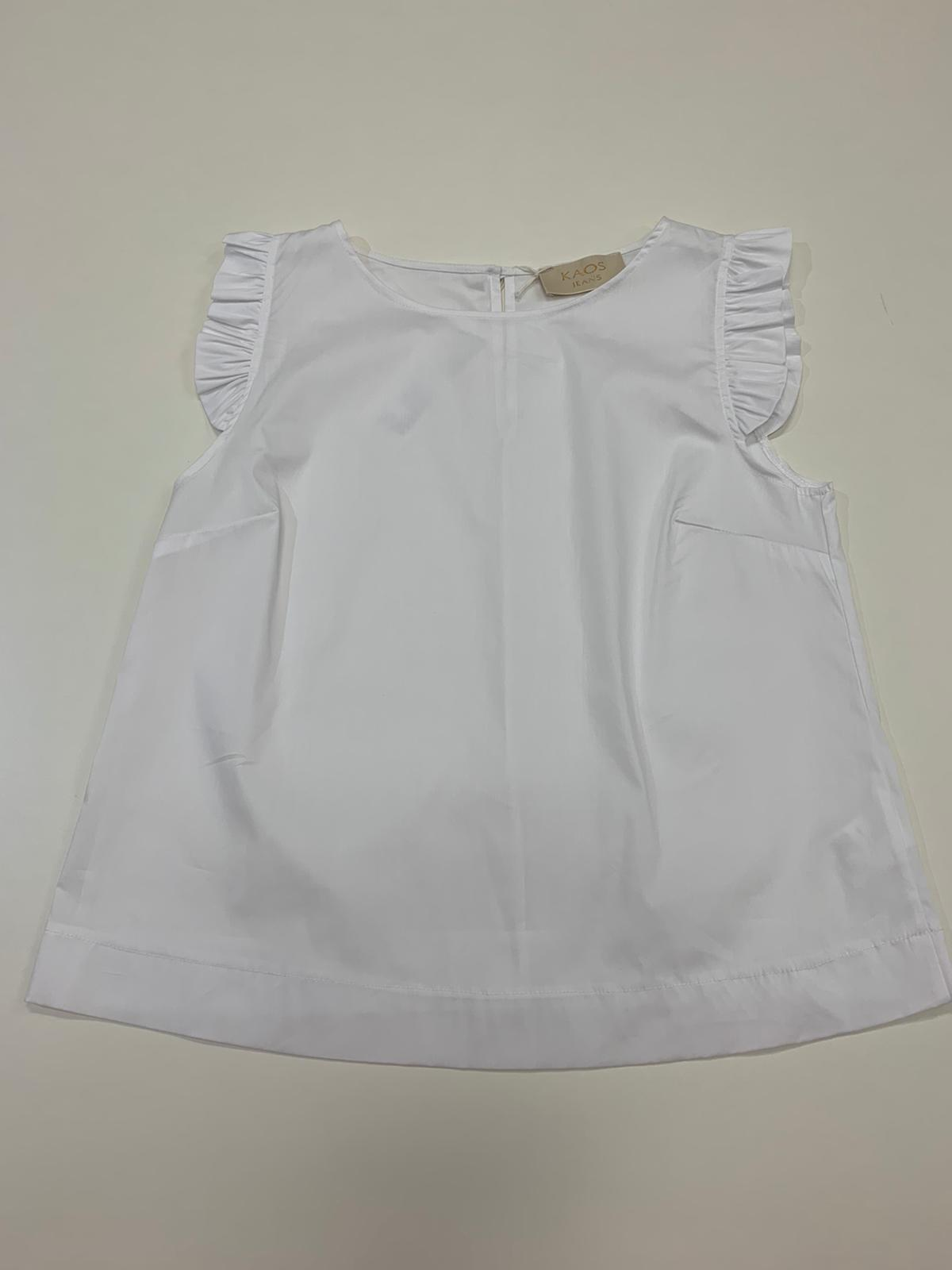 Abito Kaos Jeans Cotone Bianco