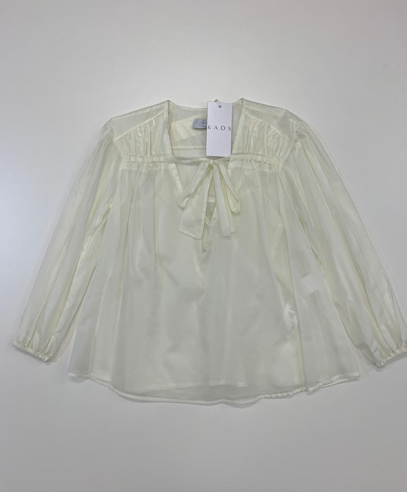 Blusa Donna Kaos Collection Cotone Panna