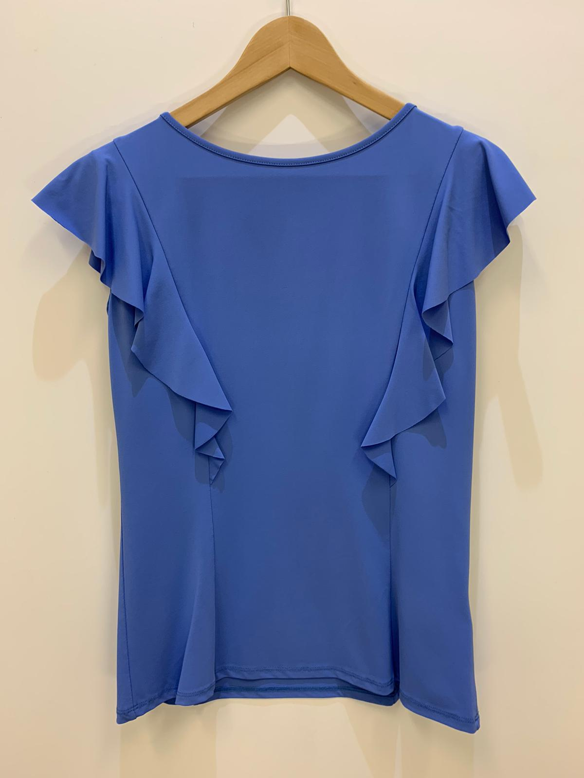 Blusa Donna Kaos Collection Rouche Azzurro
