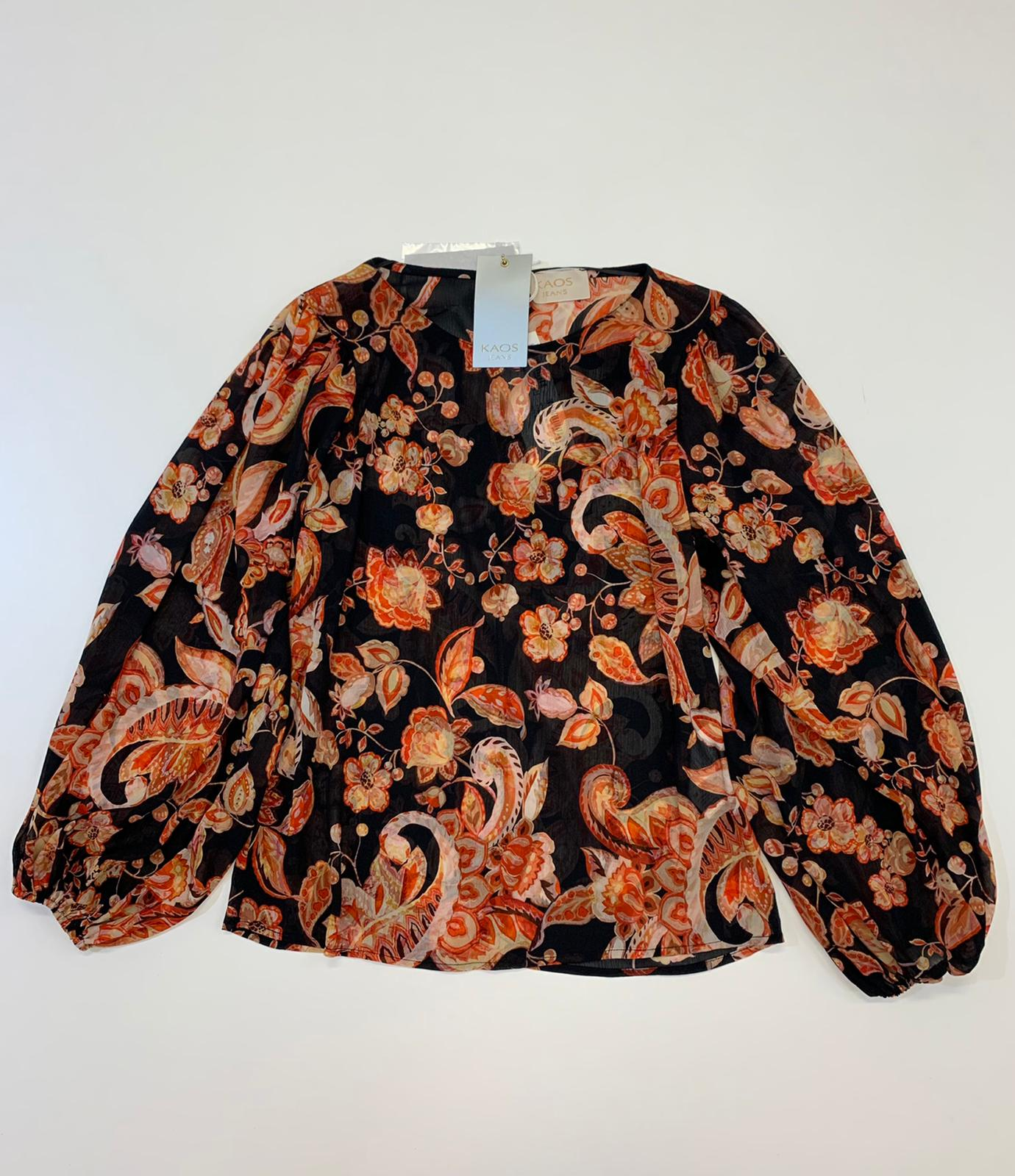 Blusa Donna Kaos Jeans Fabt Arancio