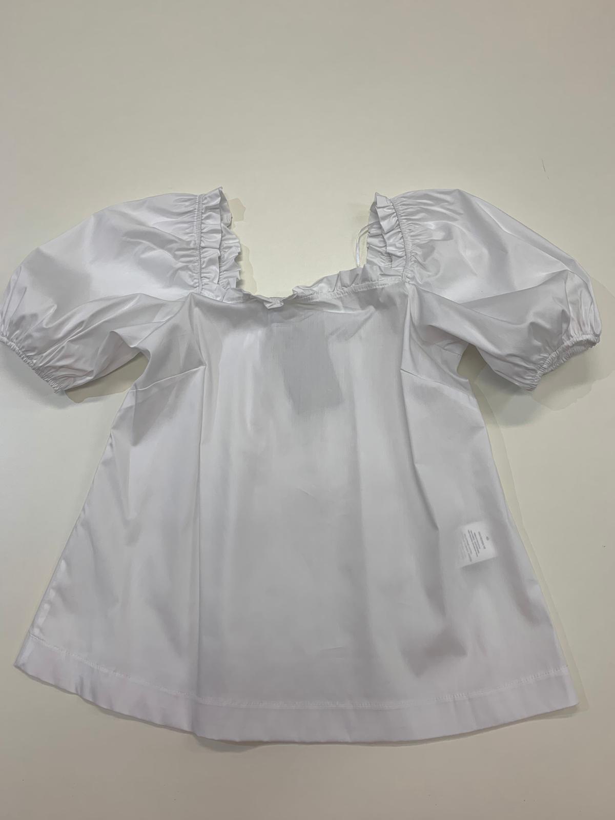 Blusa Kaos Jeans Cotone Bianco