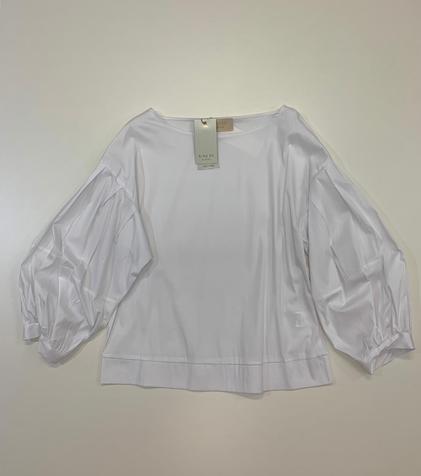 Blusa Kaos Jeans ml Cotone Bianco
