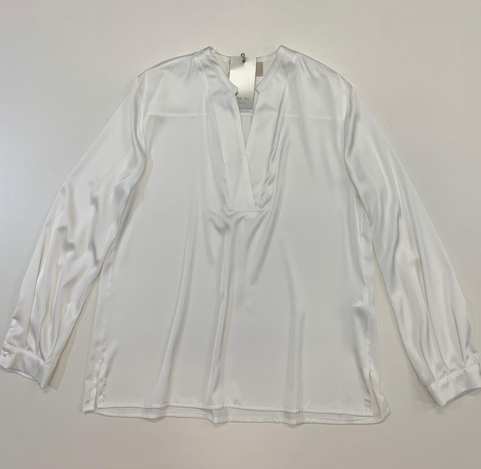 Blusa Kaos Jeans Raso Bianco