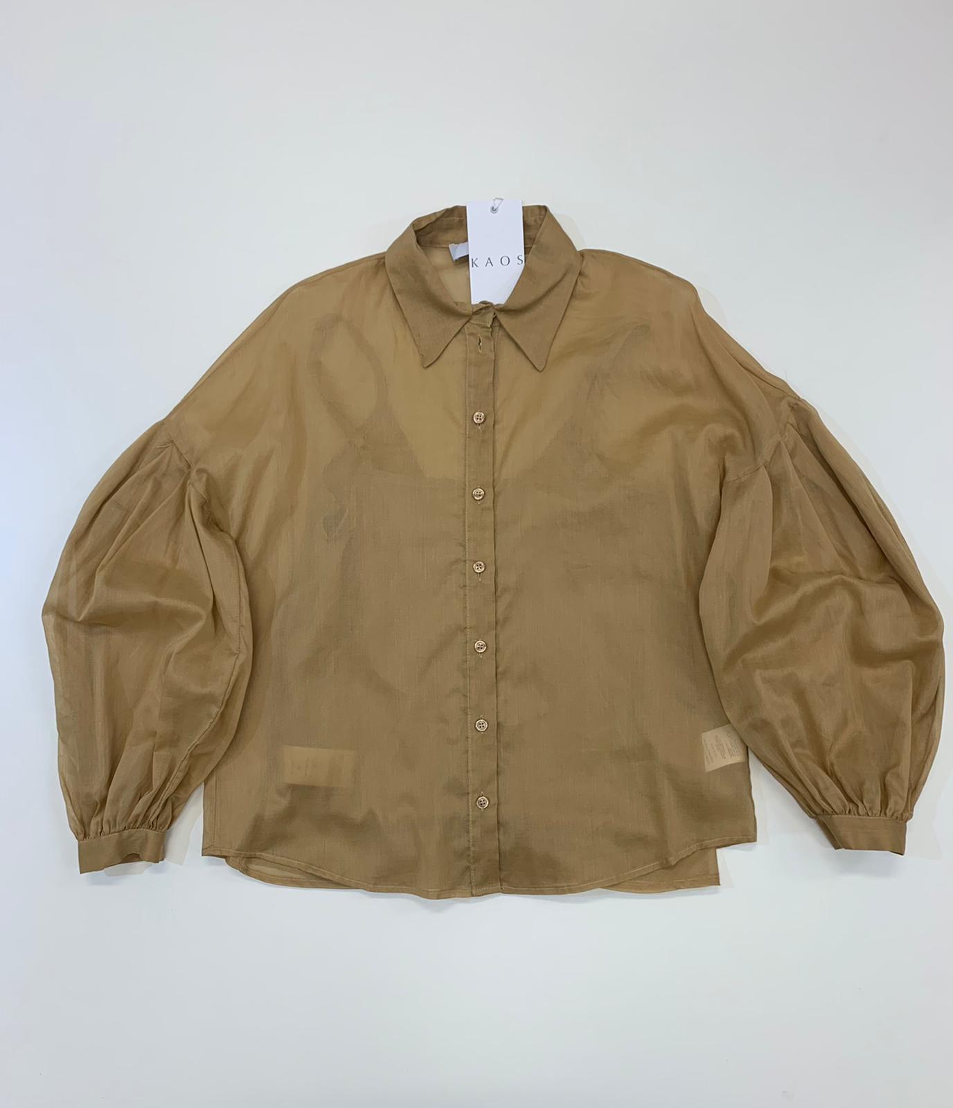 Camicia Donna Kaos Collection Cotone Sabbia