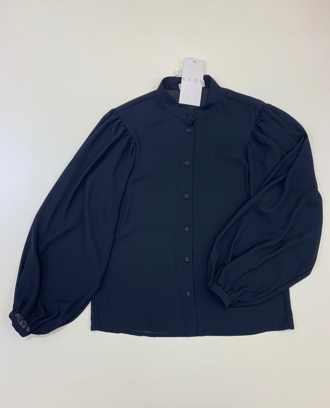 Camicia Donna Kaos Collection maniche a palloncino Blu