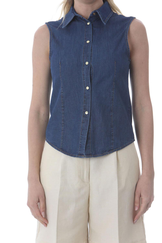 Camicia Donna Kaos Denim Smanicata Jeans