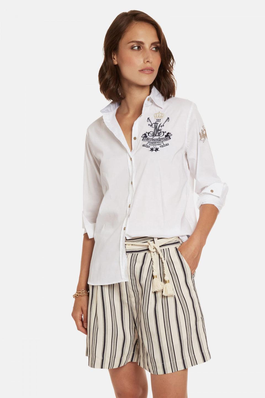 Camicia La Martina in Misto Cotone Regular Fit Bianco