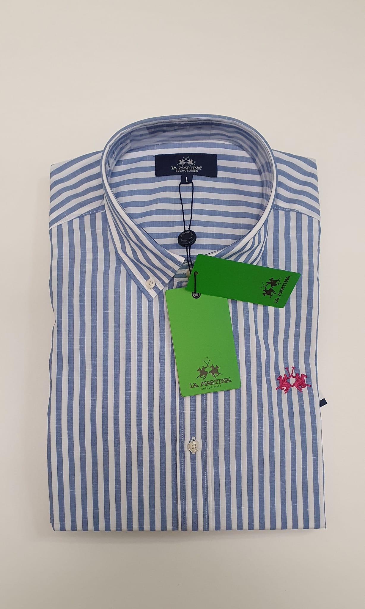 Camicia La Martina in Misto Lino Regular Fit