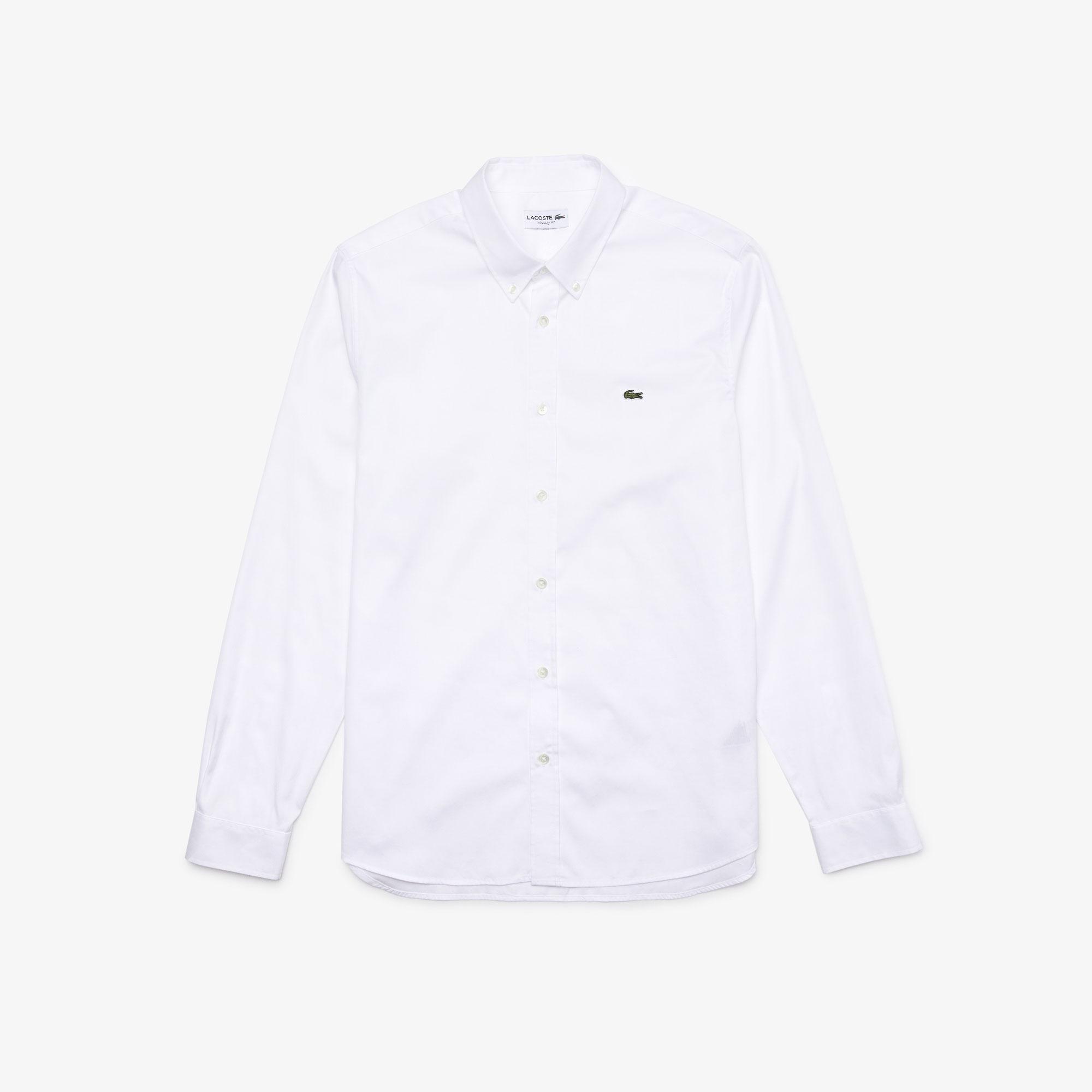Camicia Lacoste CH2933 in Cotone Bianco