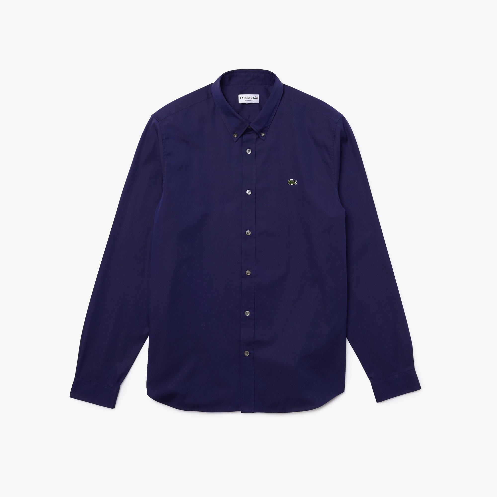 Camicia Lacoste CH2933 in Cotone Blu