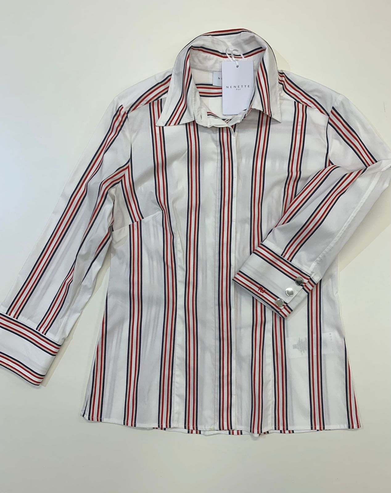 Camicia Tous Les Jours Fama Bianco Rosso Blu