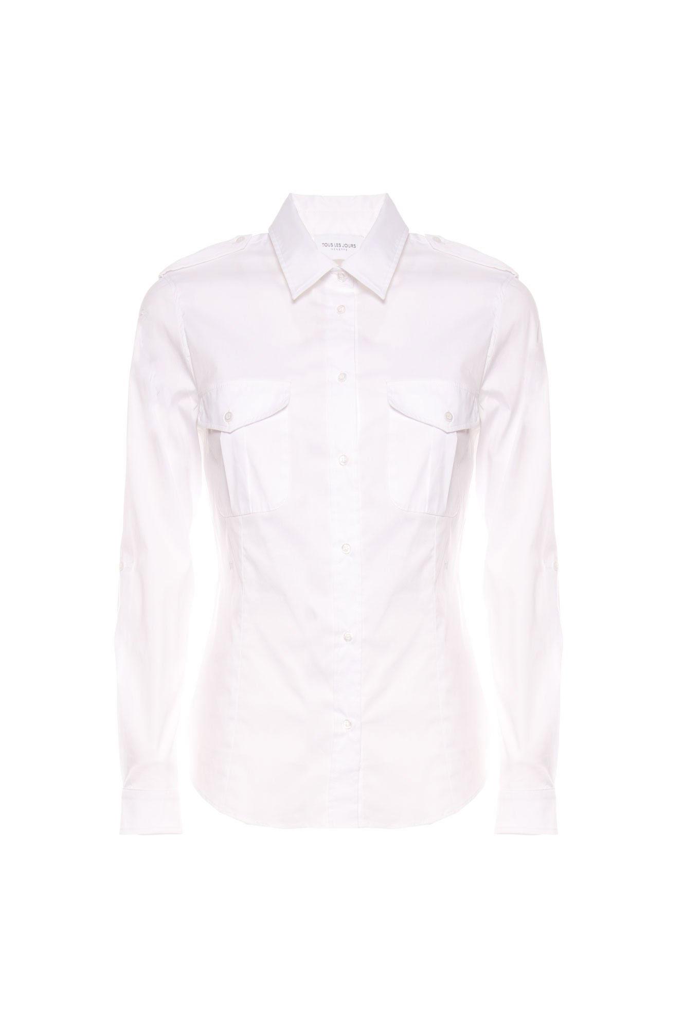 Camicia Tous Les Jours Fit Bianco