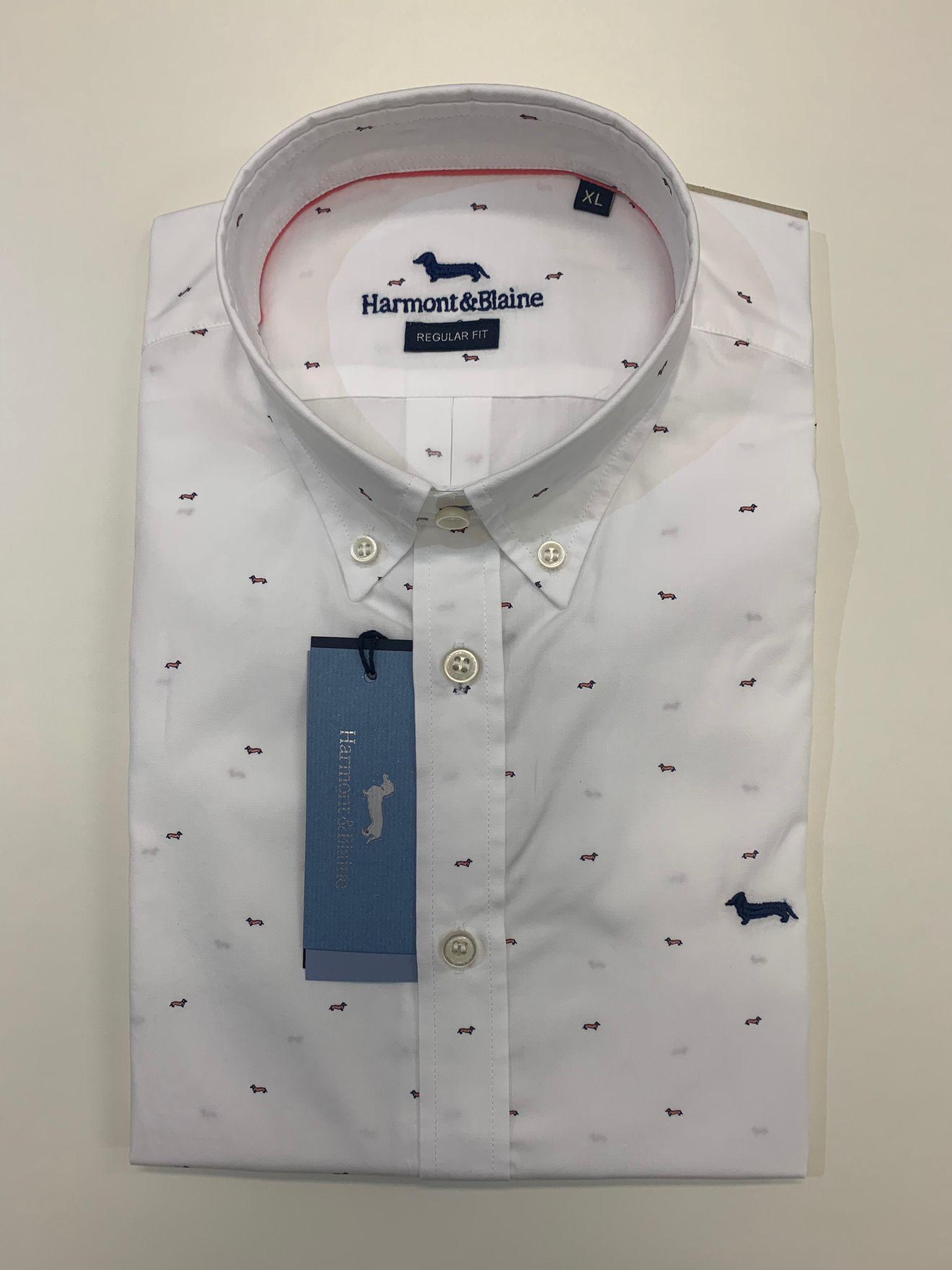 Camicia Uomo Harmont E Blaine Cotone Vestibilita Regular Bianco