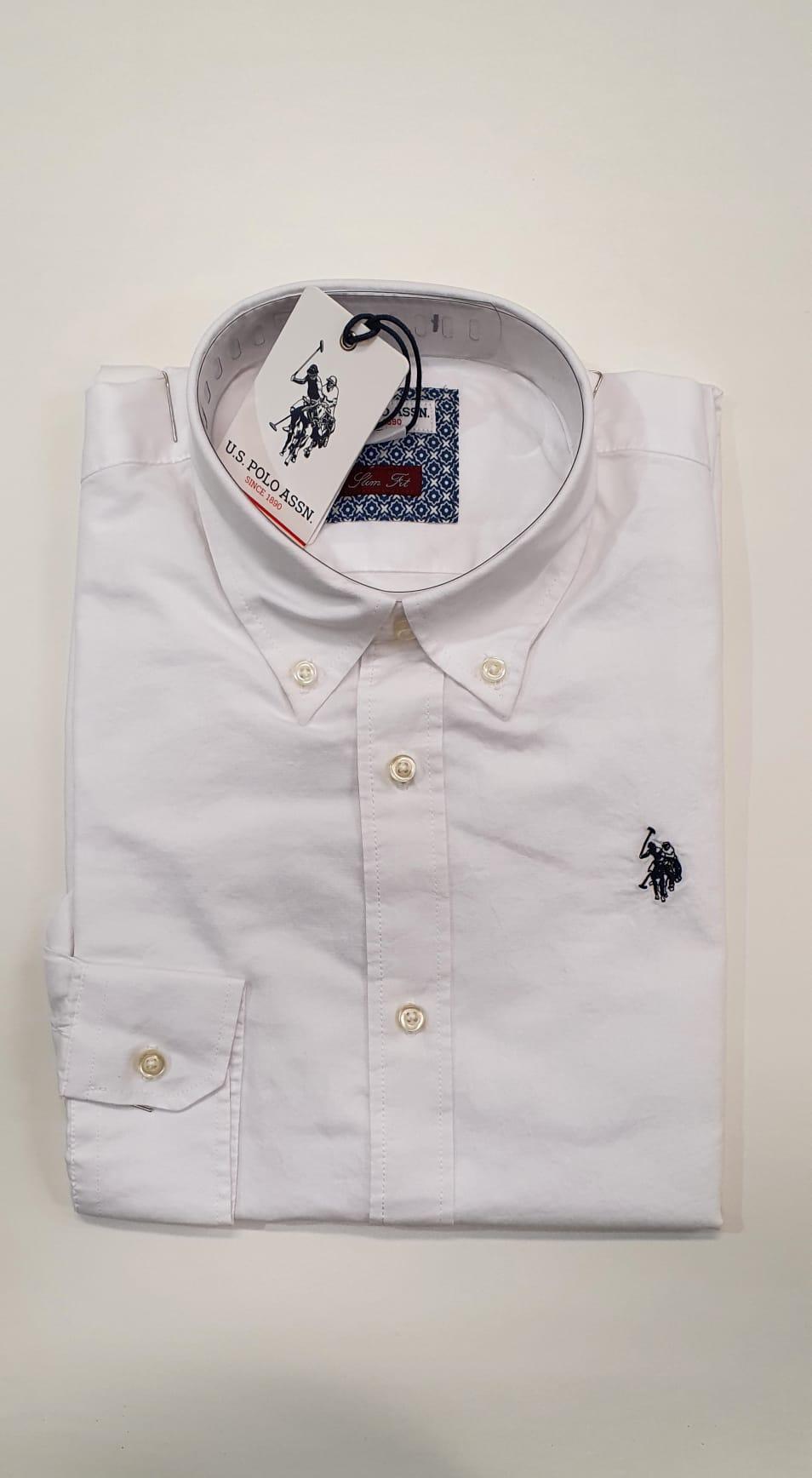 Camicia US Polo BD Oxford Bianco
