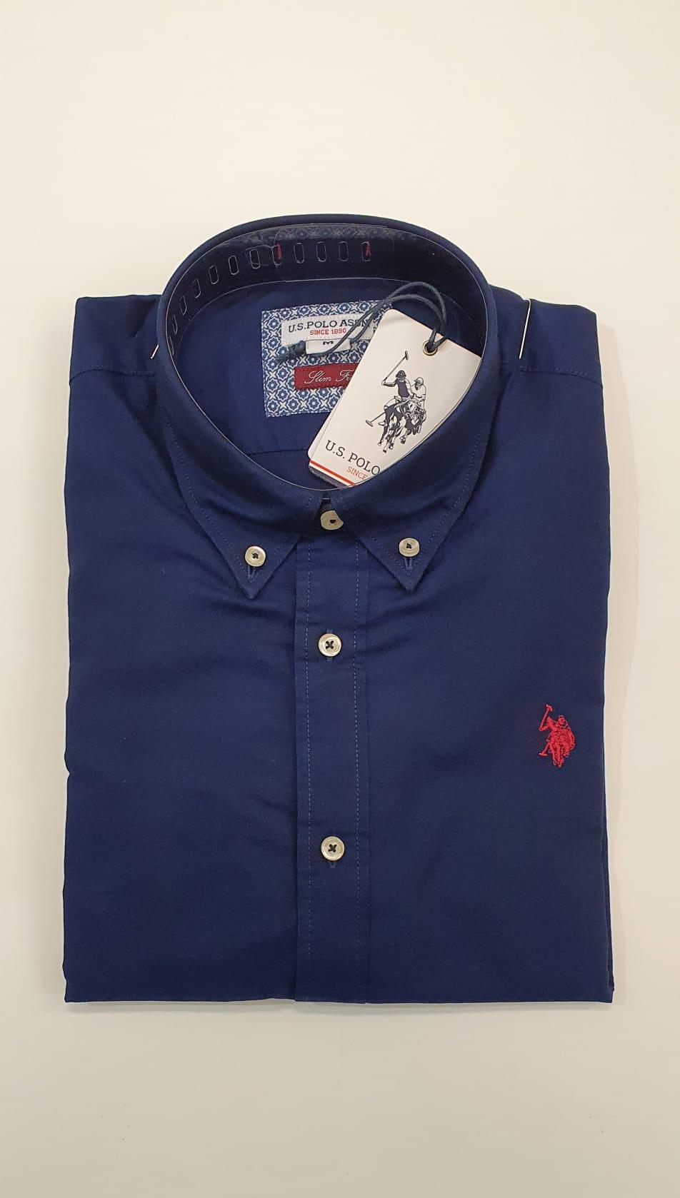 Camicia US Polo BD Oxford Blu