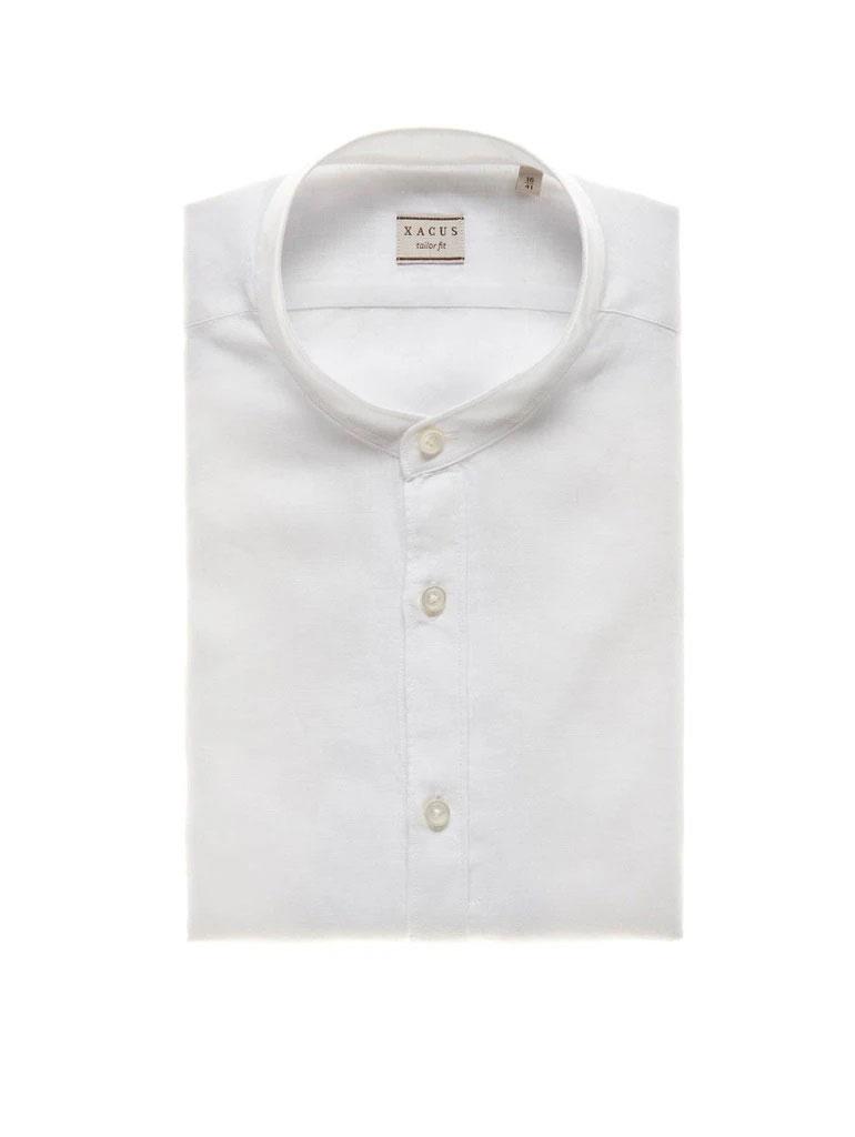 Camicia XACUS Lino Coreano Bianco