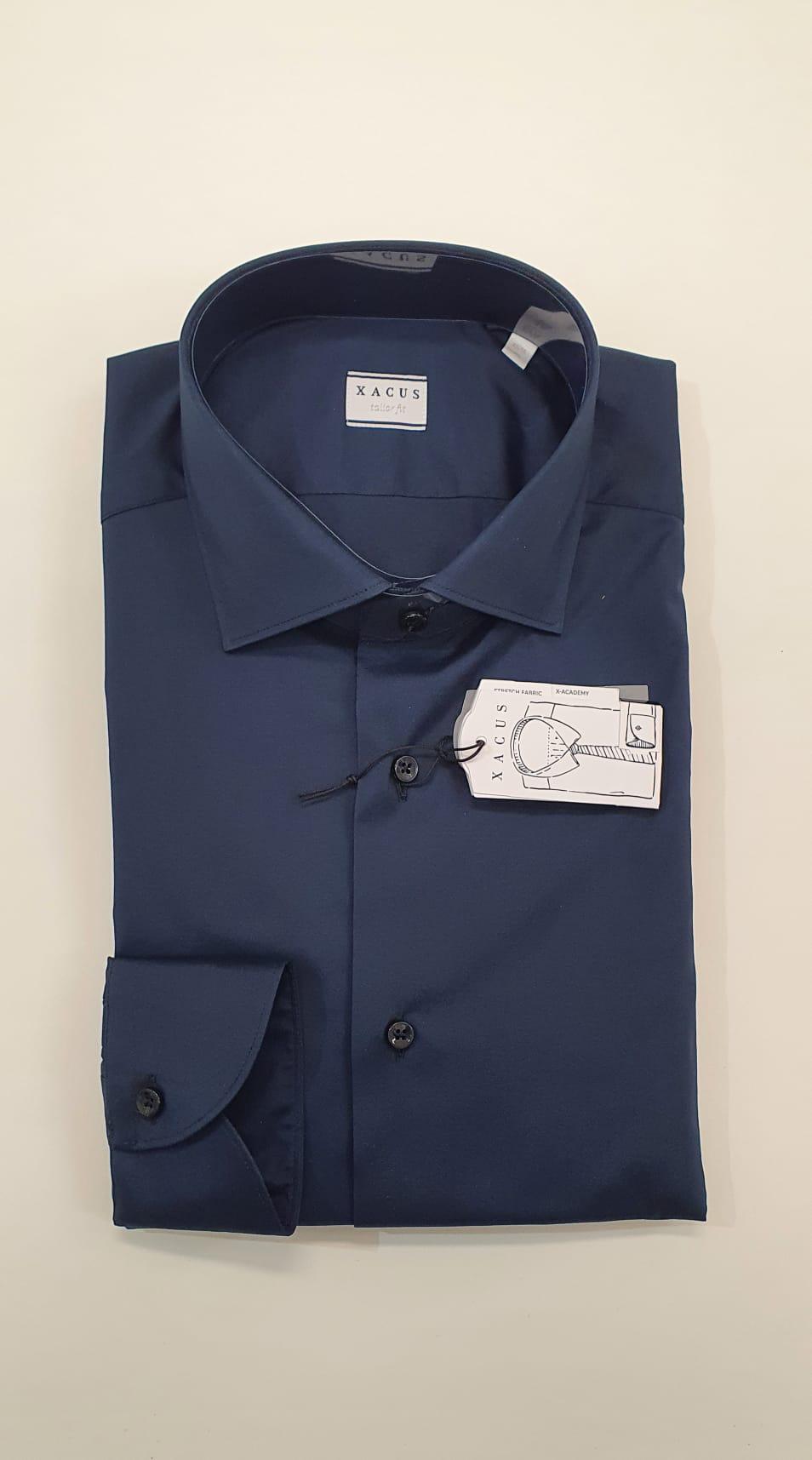 Camicia XACUS Taylor Elasticizzata Blu