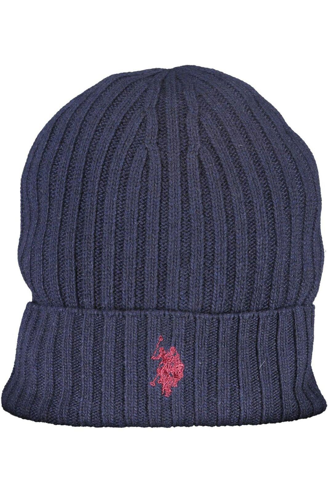 Cappello Uomo US Polo Logo Coste Blu