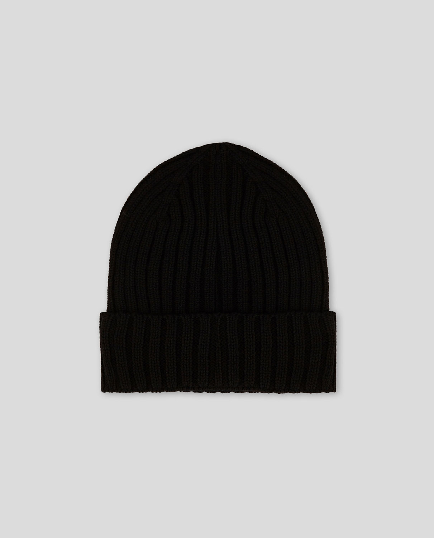 Cappello Uomo Woolrich Winter Wool Beanie Hat Nero
