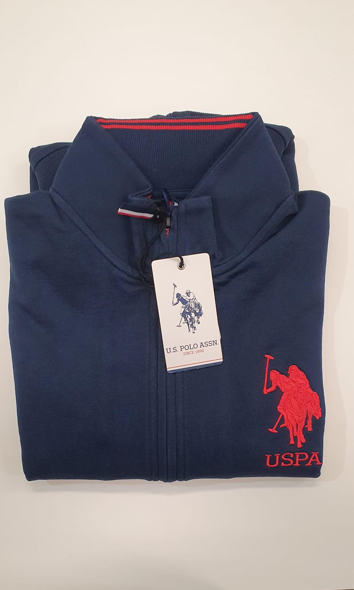 Felpa US Polo FullZip Profilo Blu