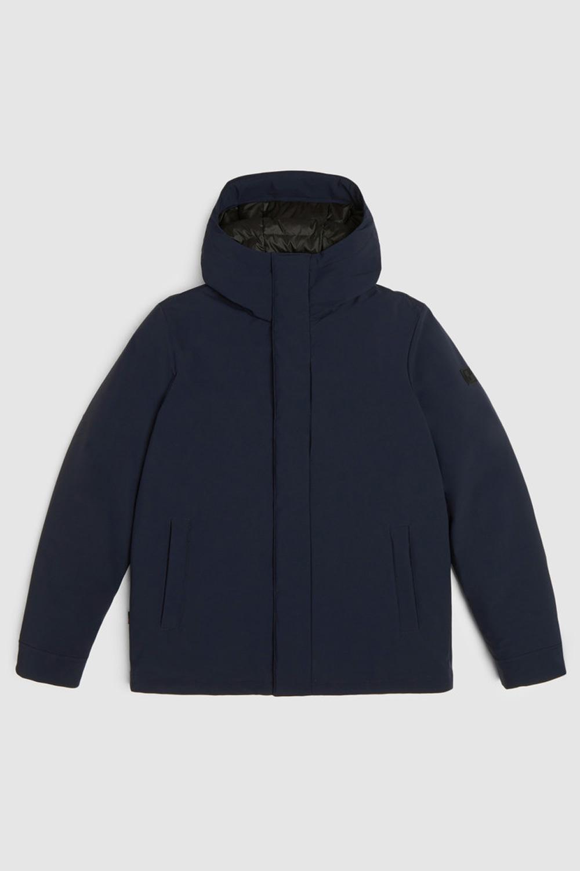 Giacca Uomo Woolrich Pacific Stretch Melton Blu
