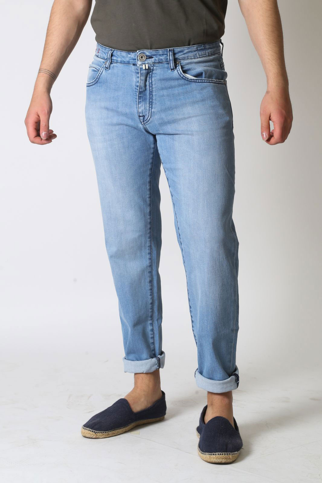 Jeans Baronio 5 tasche Light Wash