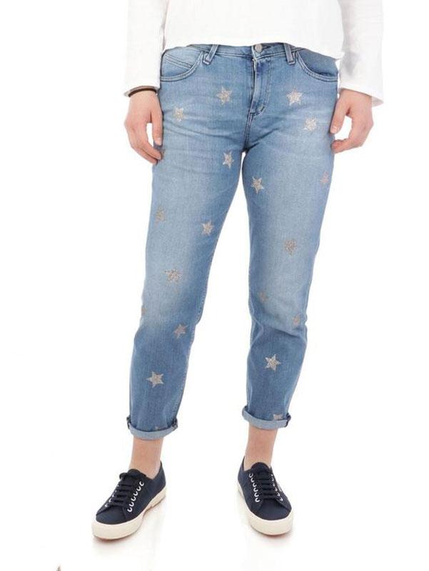 Jeans Donna kaos Denim Cotone Azzurro