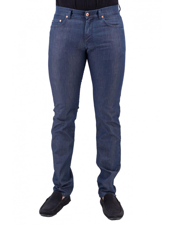 Jeans Harmont e Blaine 5 Tasche Basico Narrow Blu