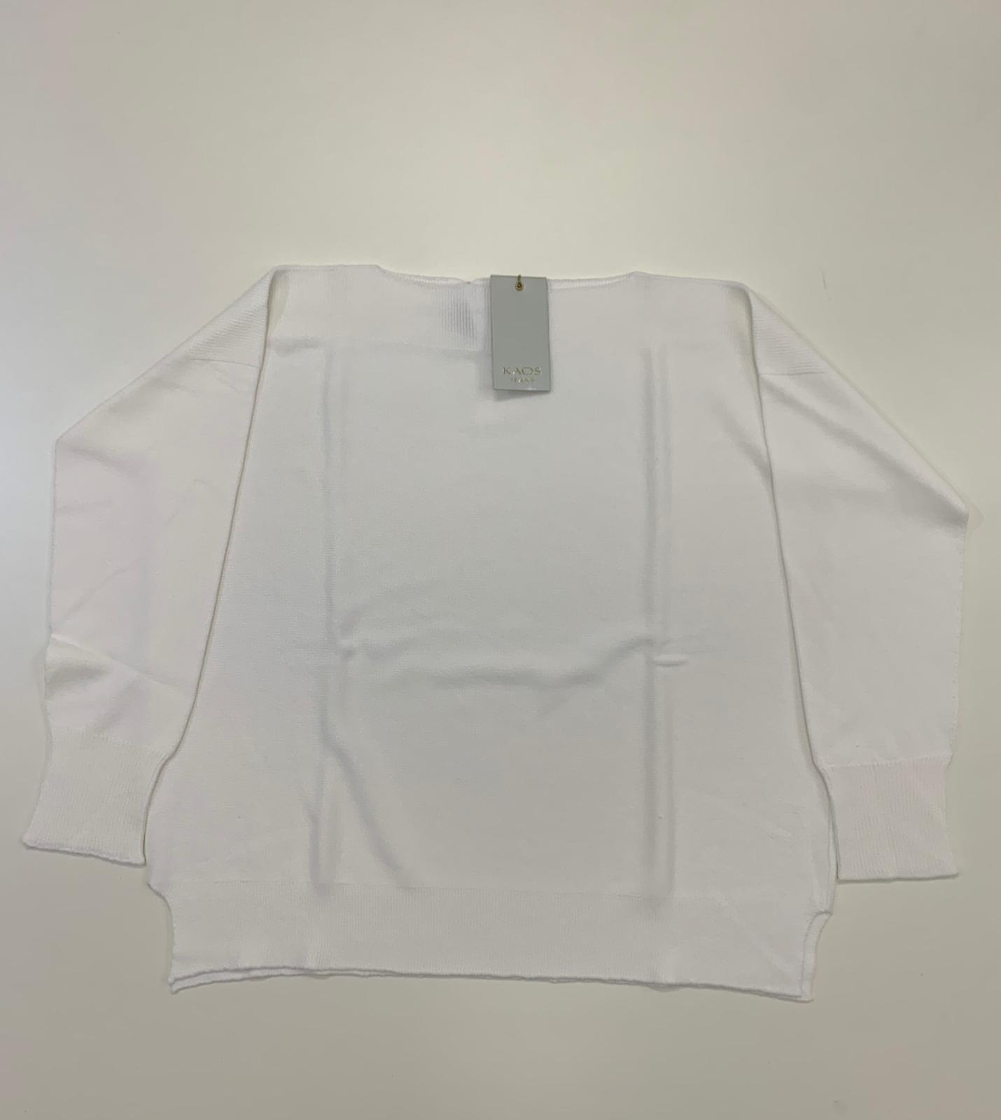 Maglia Kaos Jeans Filo Viscoso Bianco