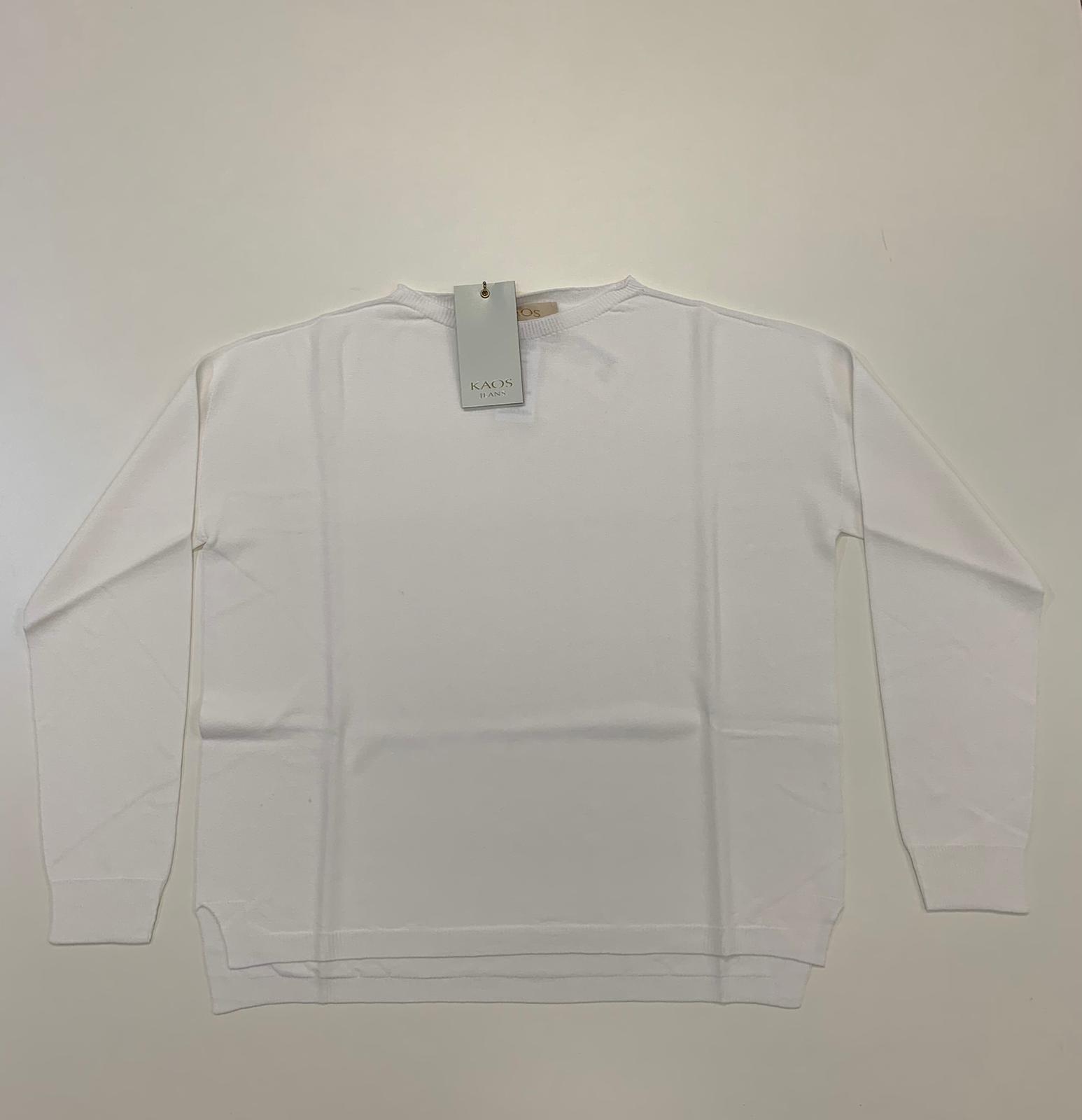 Maglia Kaos Jeans Viscosa Bianco