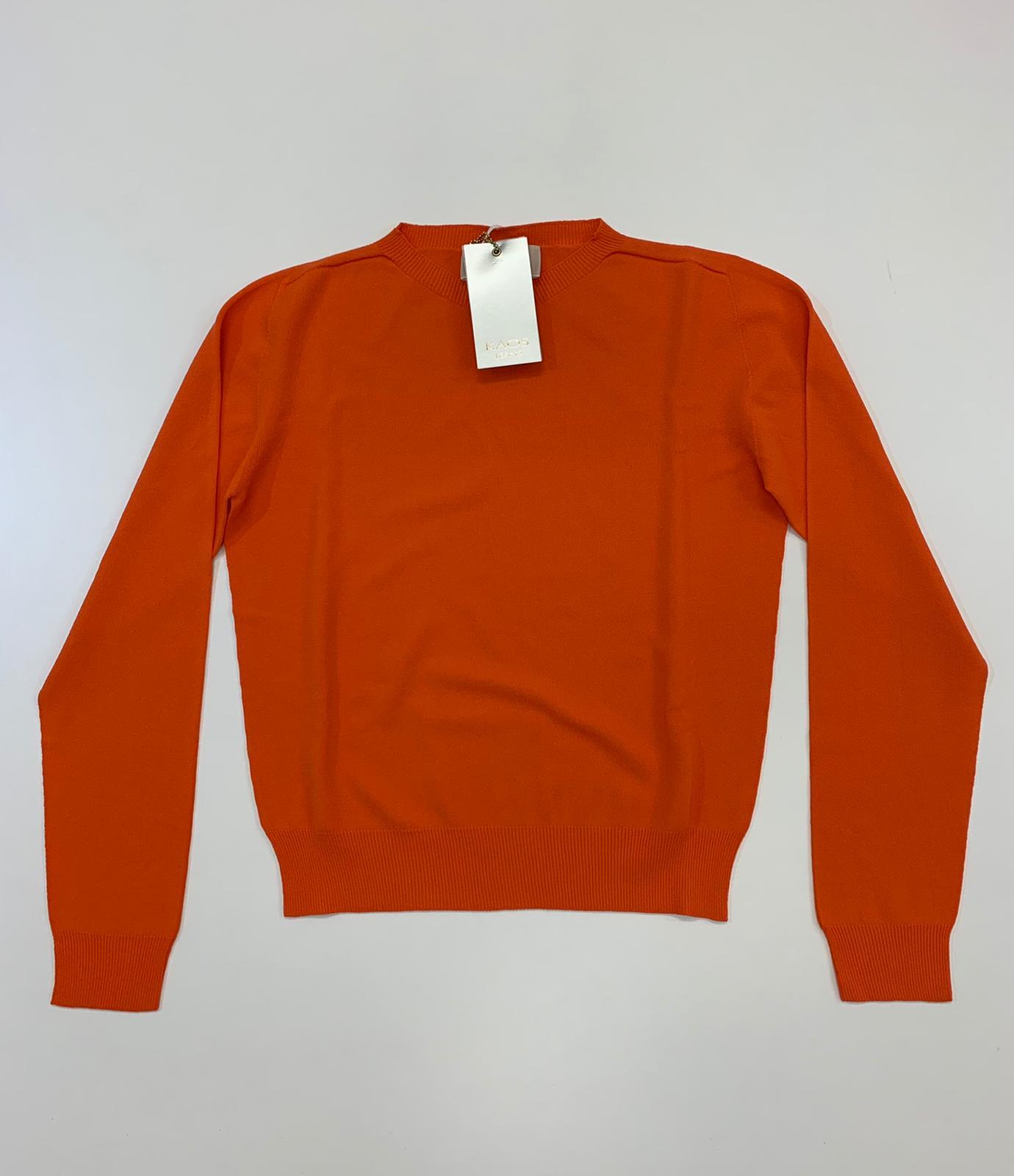 Maglia Kaos Jeans Viscosa Mandarino