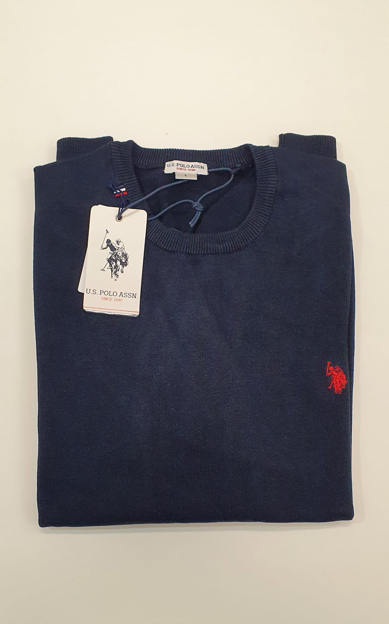 Maglia US Polo Girocollo Blu