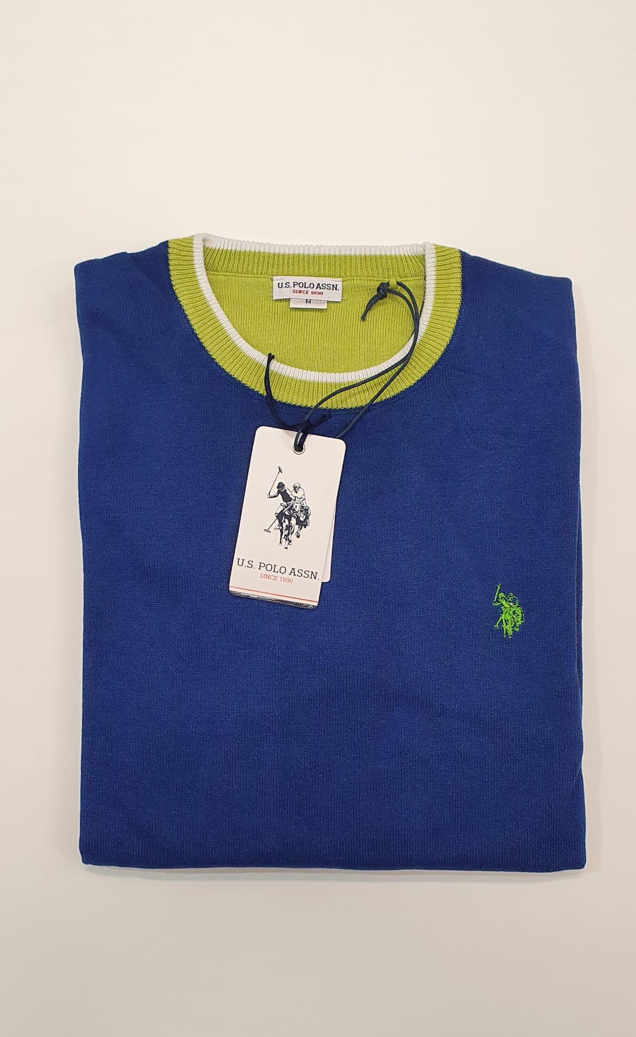 Maglia US Polo Girocollo Bluette