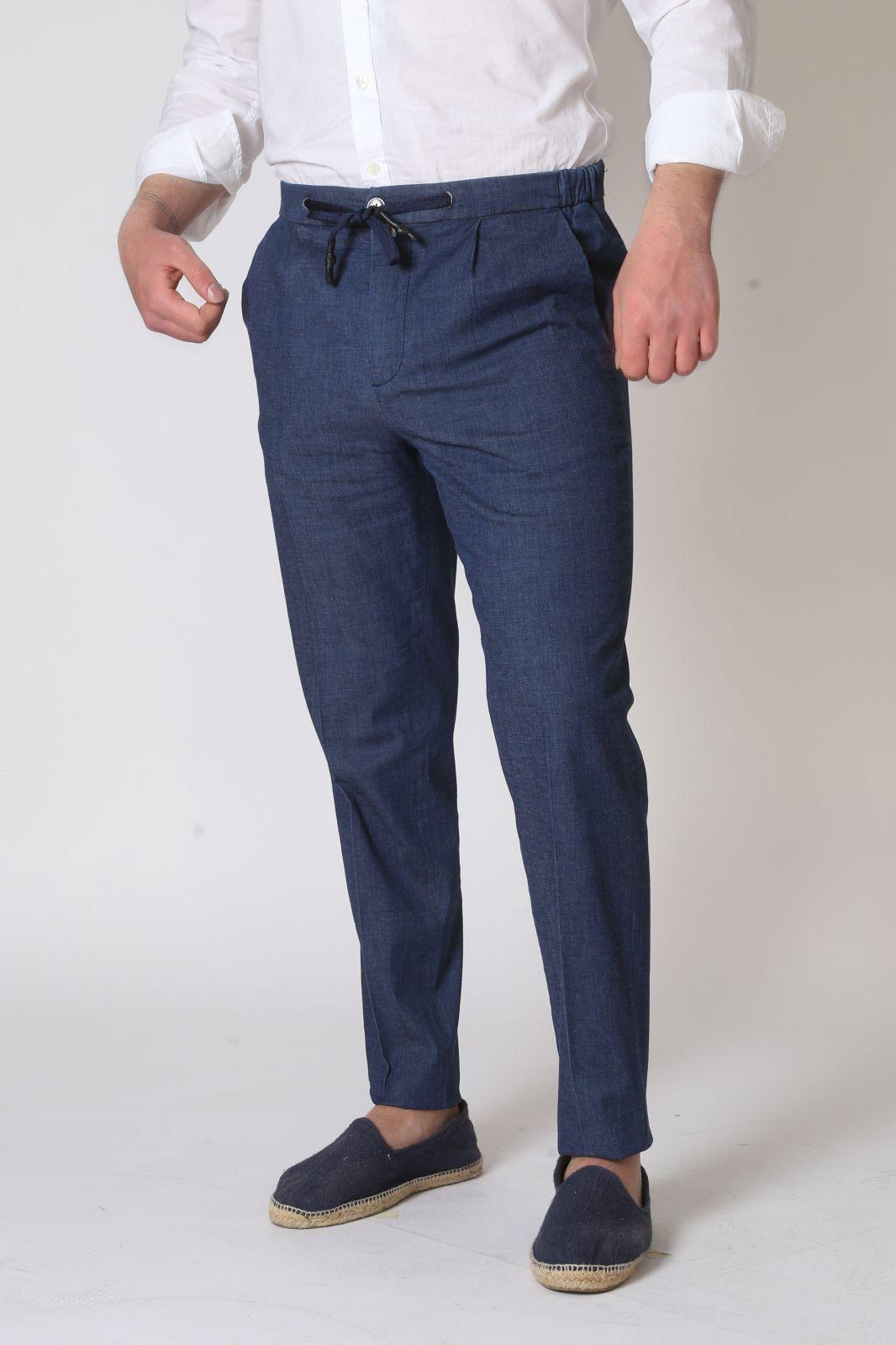 Pantalone Baronio jeans con Coulisse