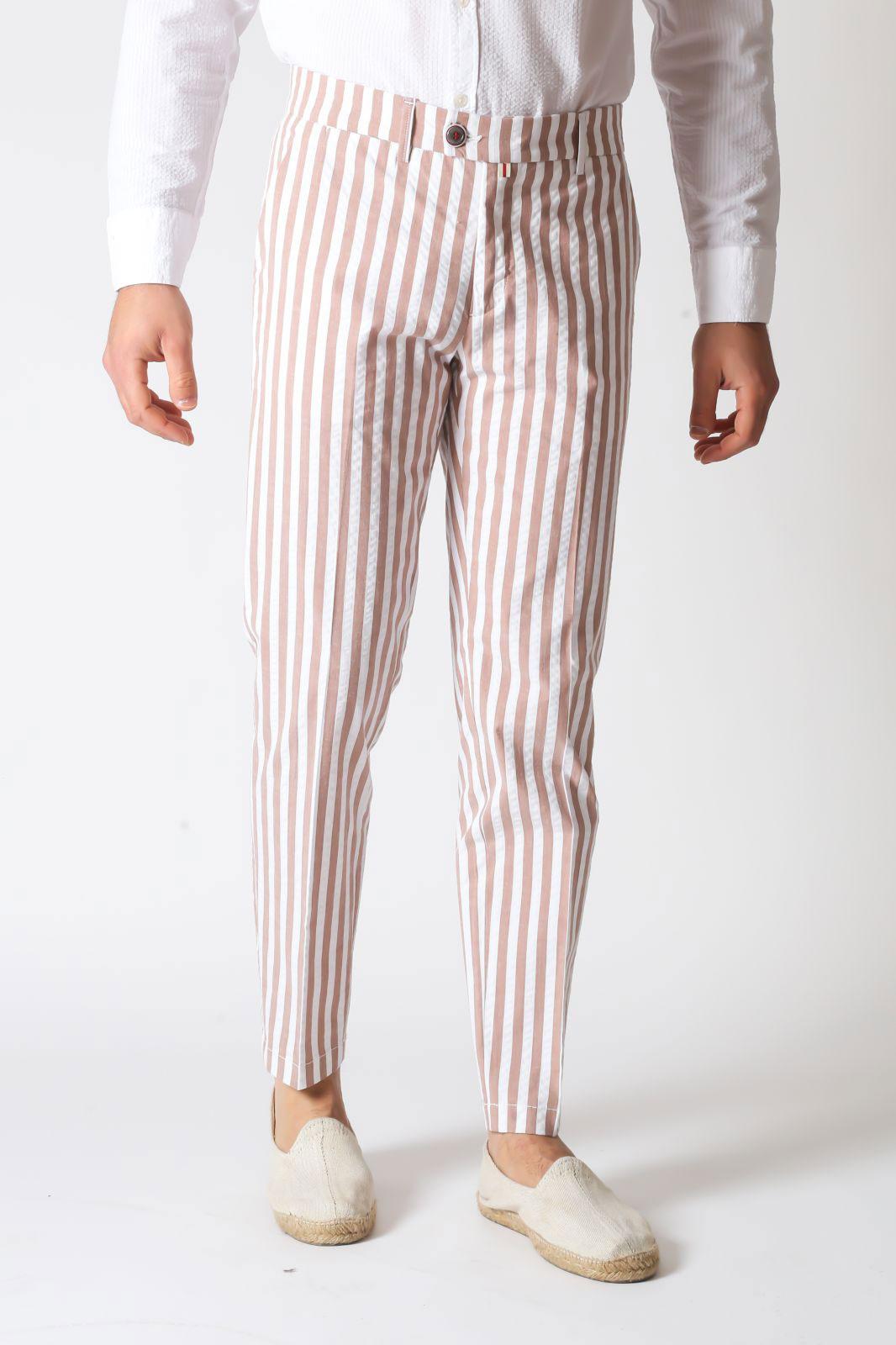Pantalone Baronio Riga Slim Fit Bianco