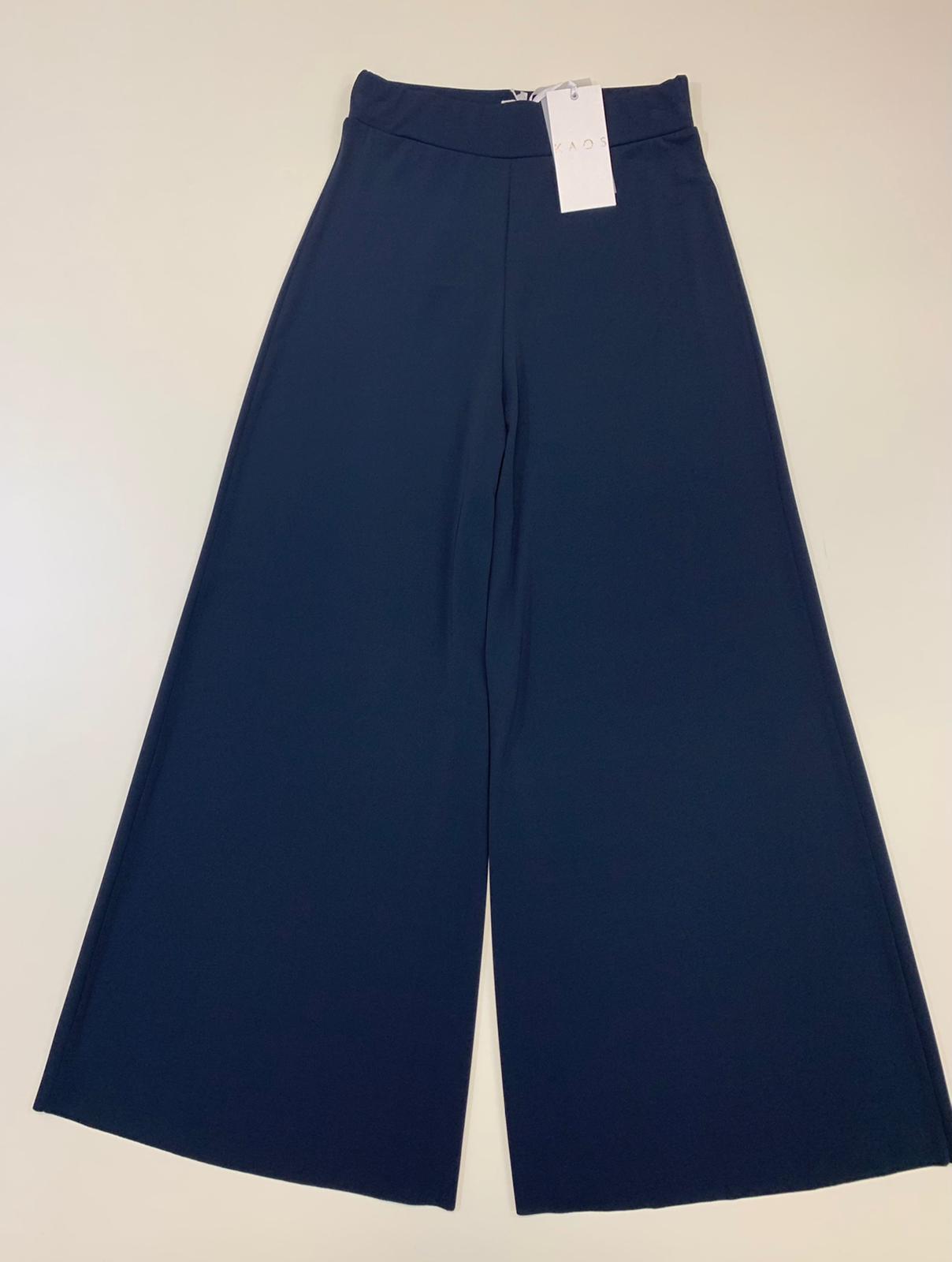 Pantalone Donna Kaos Collection Pantapalazzo Blu
