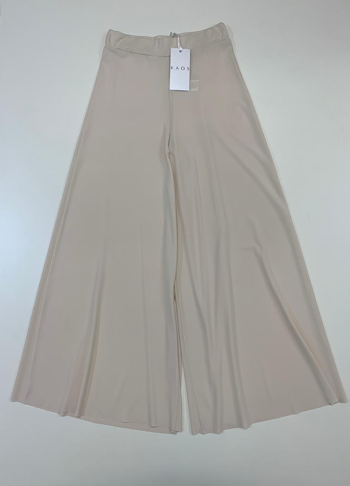 Pantalone Donna Kaos Collection Pantapalazzo Vaniglia