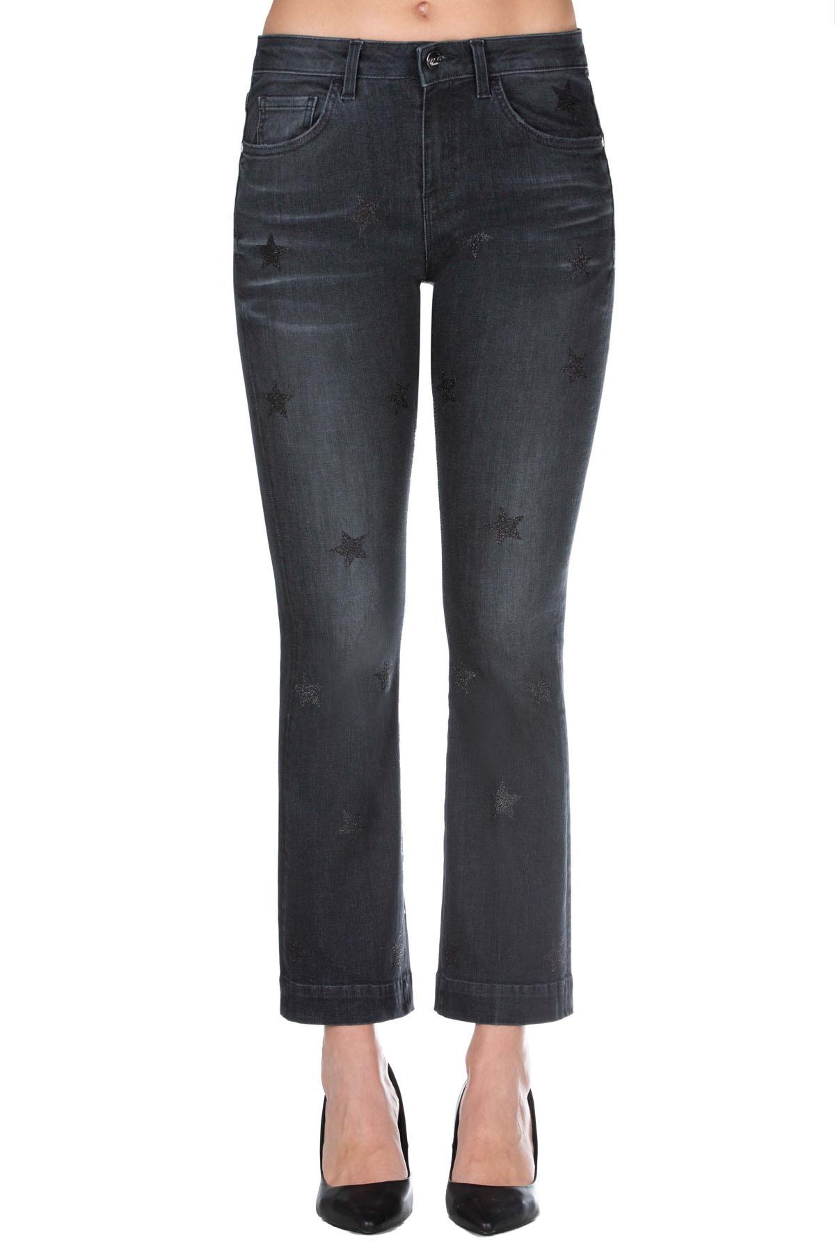 Pantalone Donna Kaos Sally Glitter Trombetta 5 Tasche