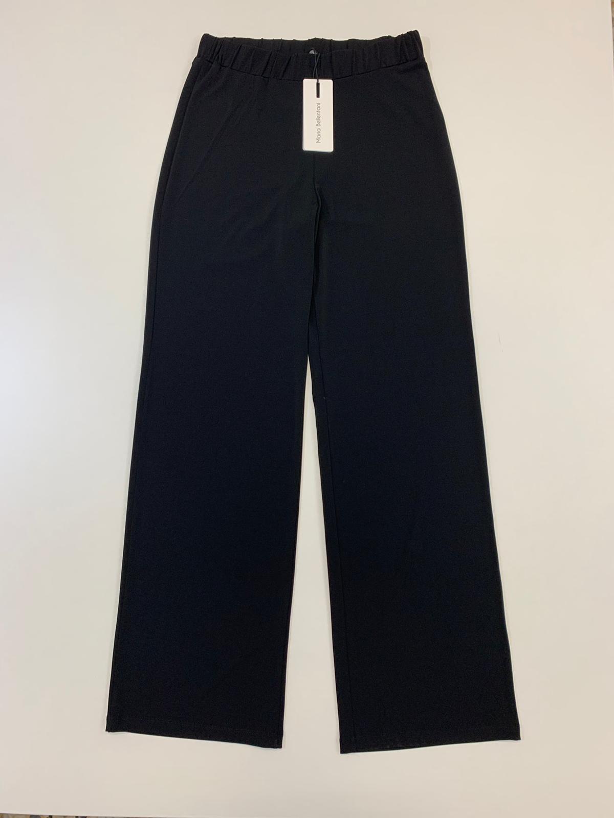 Pantalone Donna Maria Bellentani Viscosa Nero
