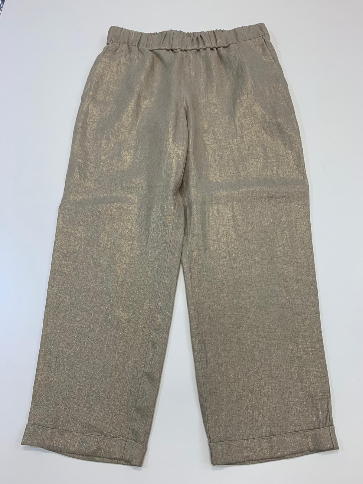 Pantalone Donna Seventy lino Fango
