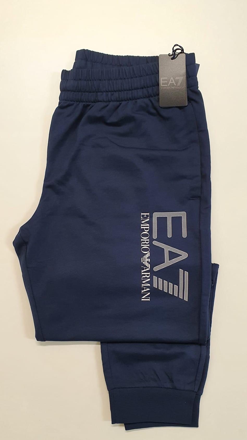 Pantalone EA7 Felpato Blu