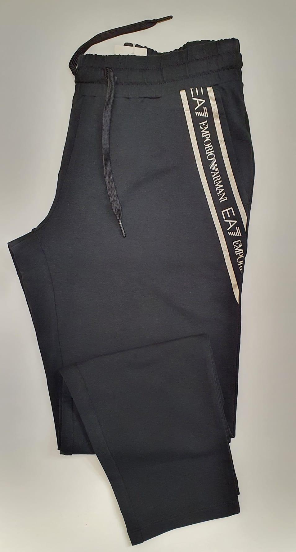 Pantalone EA7 Felpato Nero