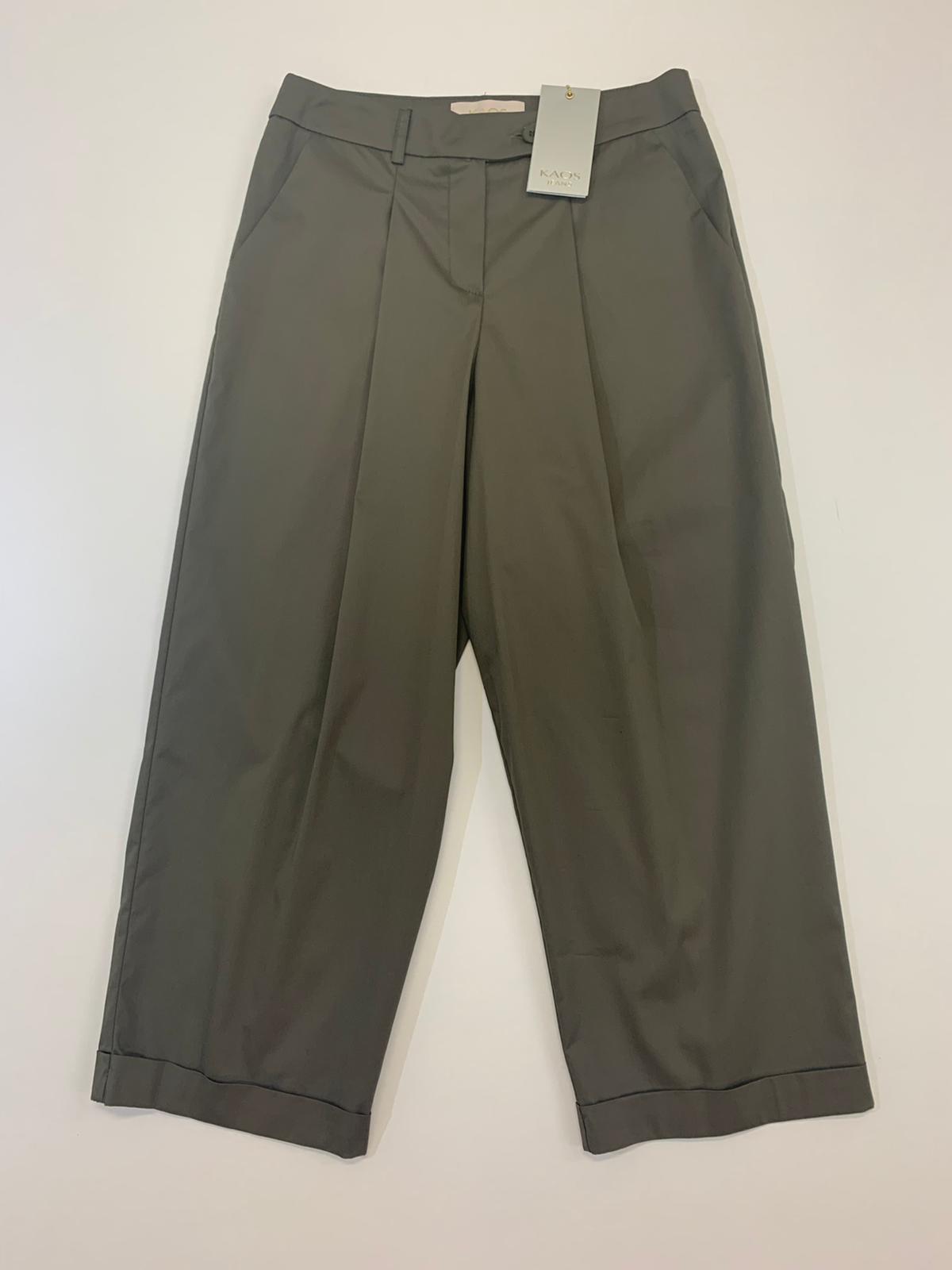 Pantalone Kaos Jeans Croppe Militare