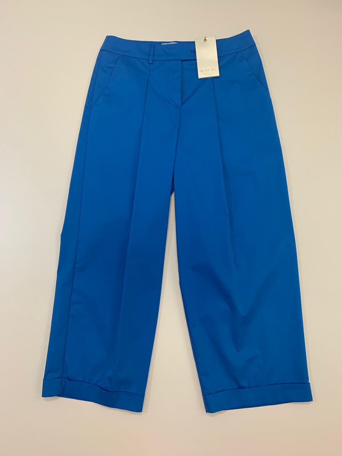 Pantalone Kaos Jeans Croppe Oceano