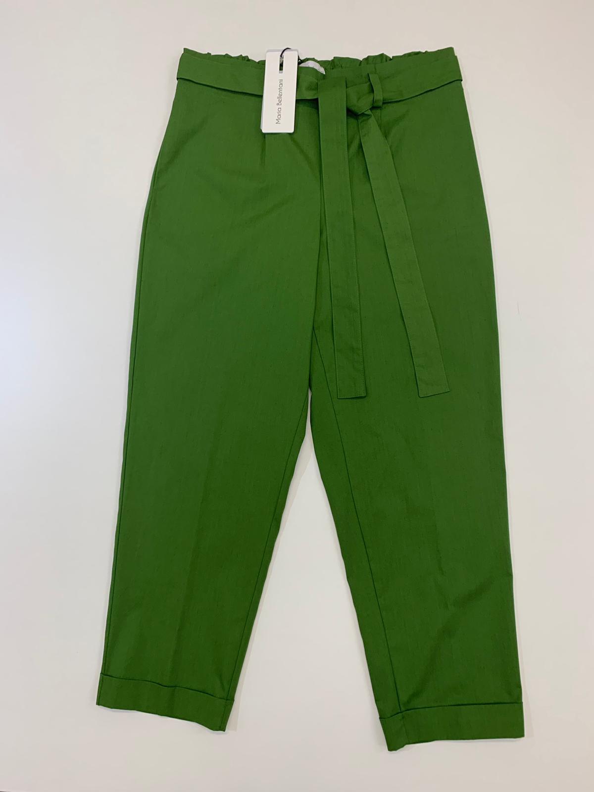 Pantalone Maria Belentani Croppe Verde