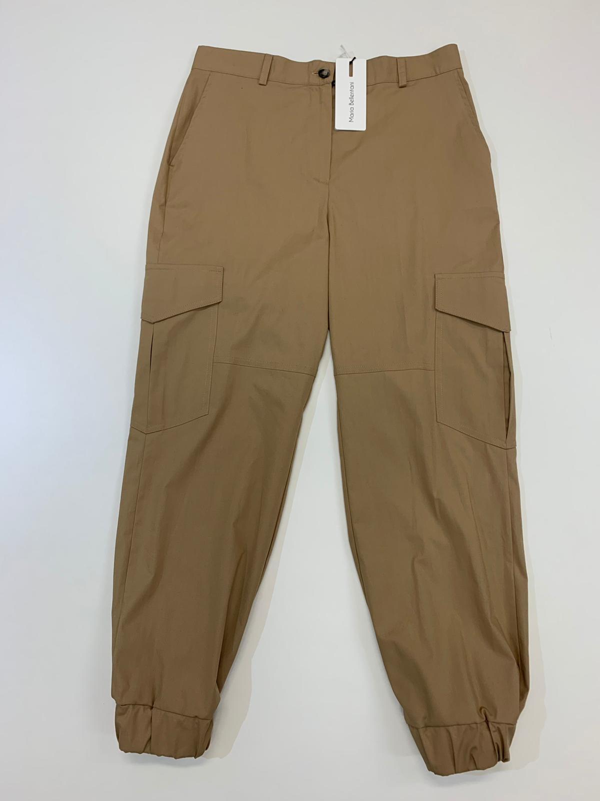 Pantalone Maria Bellentani Cargo Sabbia
