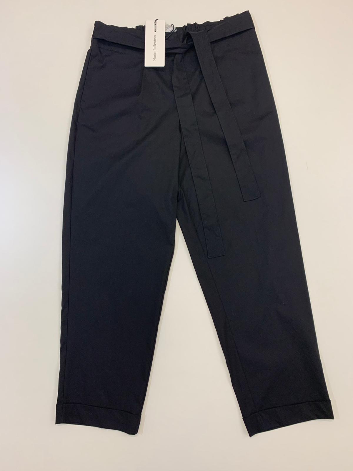 Pantalone Maria Bellentani Cropped Nero