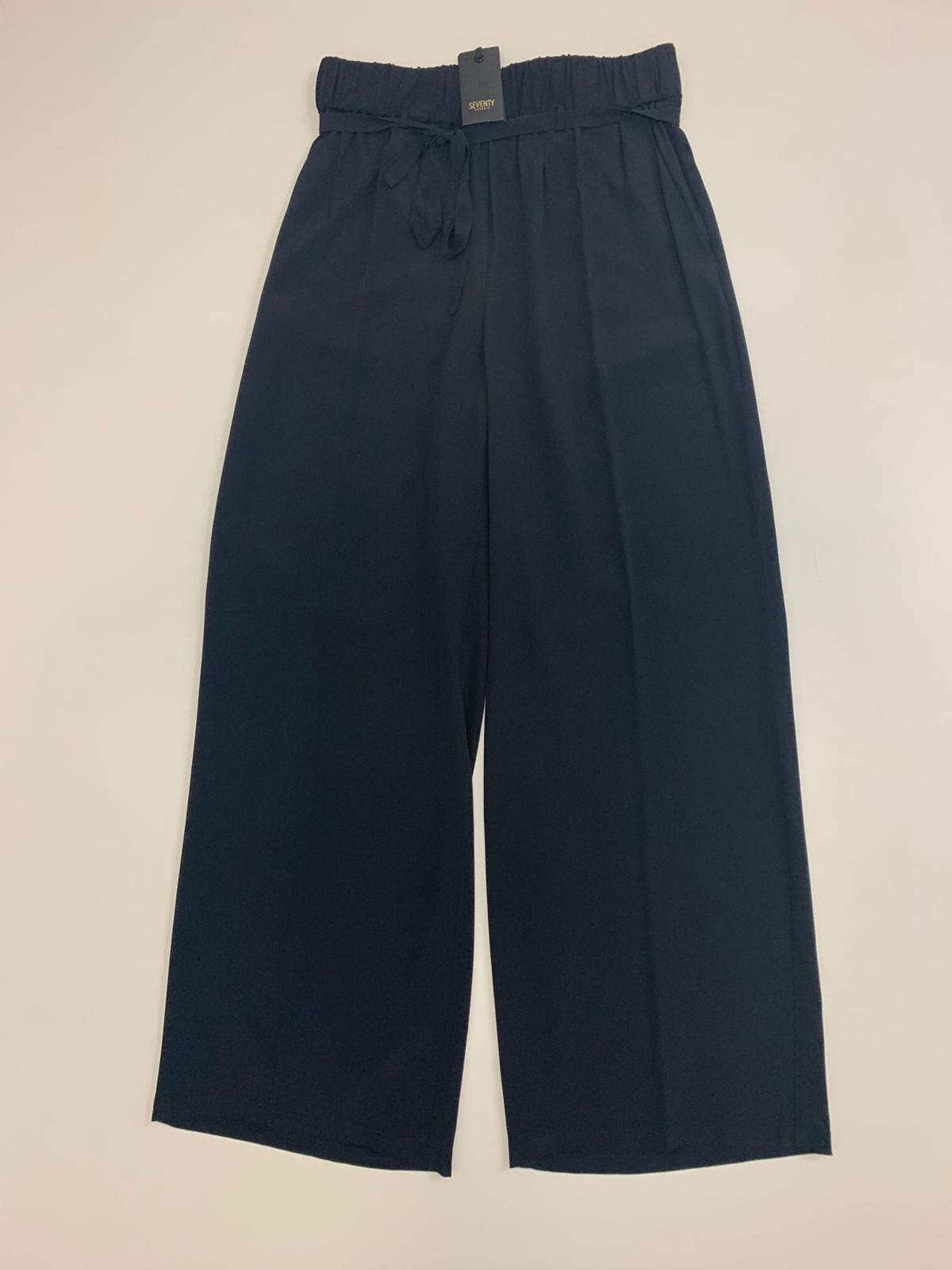 Pantalone Seventy Crepe Nera