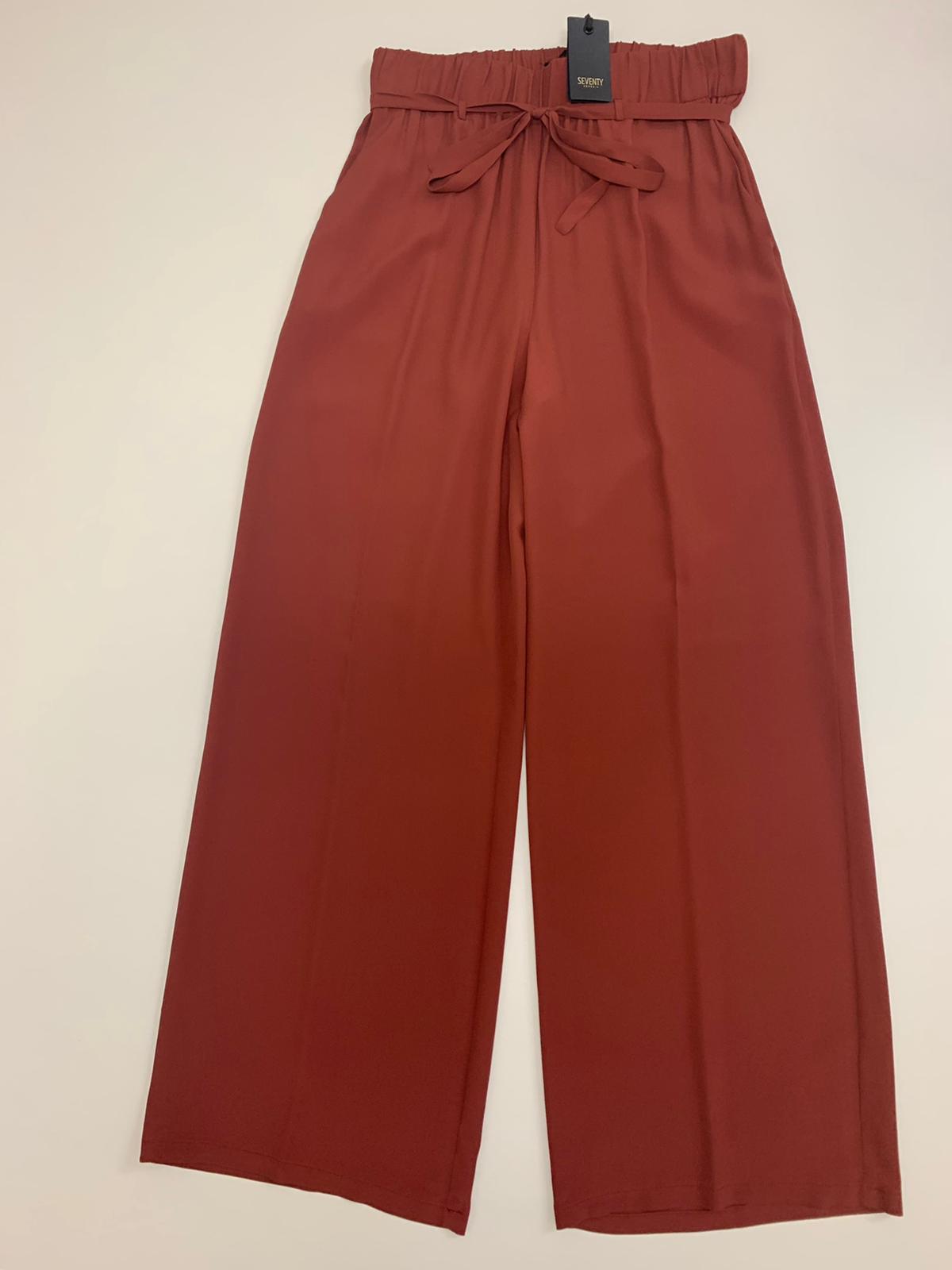 Pantalone Seventy Crepe Rossa