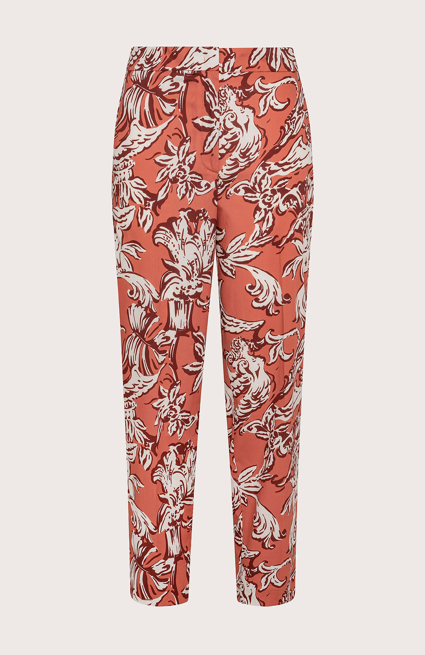Pantalone Seventy in Cotone Stampato Arancione